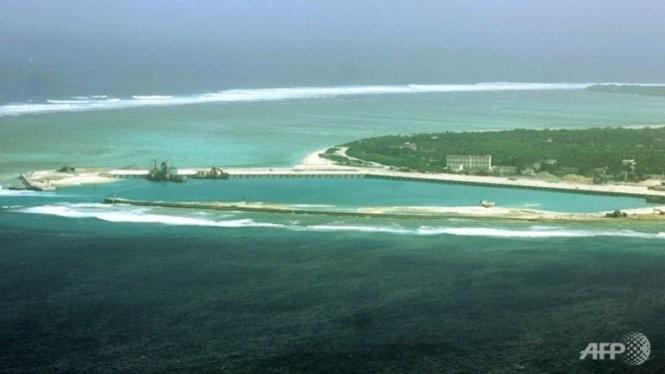 Một góc đảo thuộc các đảo tranh chấp ở quần đảo Hoàng Sa của Việt Nam do Trung Quốc chiếm đóng trái phép - Ảnh: AFP