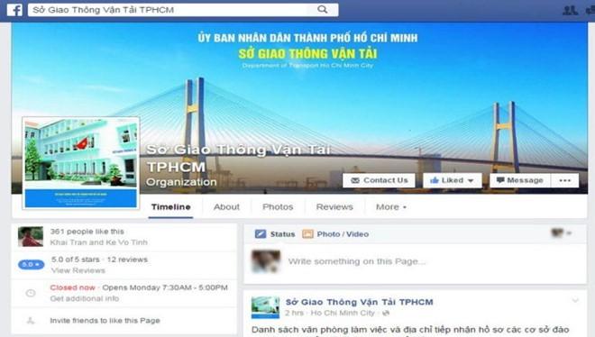 Trang Facebook của Sở GT-VT TP HCM.