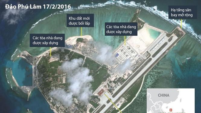 Cận cảnh HQ-9 và cơ sở quân sự phi pháp của TQ ở đảo Phú Lâm