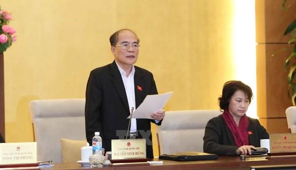 Chủ tịch QH Nguyễn Sinh Hùng. Ảnh: TTXVN