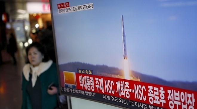 Hình ảnh Triều Tiên phóng tên lửa. (Nguồn: Reuters)