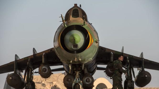 Ảnh căn cứ không quân của quân đội Syria ở tỉnh Homs