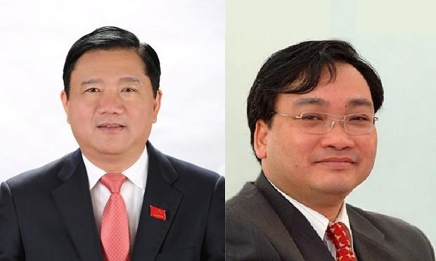 Hai ông Đinh La Thăng (trái) và Hoàng Trung Hải