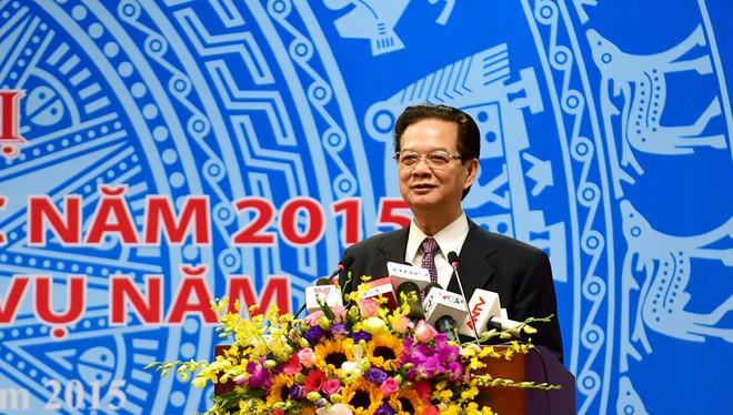 Thủ tướng Nguyễn Tấn Dũng phát biểu tại Hội nghị Tham tán thương mại 2016