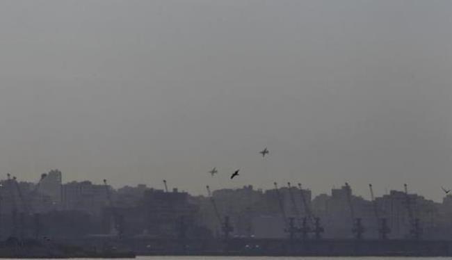 Các chiến đấu cơ của Nga bay trên bầu trời Latakia, Syria hôm 28.1.2016.