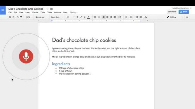 Đến thời đọc cho Google Docs gõ văn bản giúp