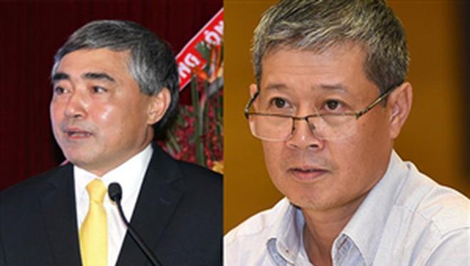 Thủ tướng vừa tái bổ nhiệm có thời hạn ông Nguyễn Minh Hồng (bên trái) và ông Nguyễn Thành Hưng (bên phải) giữ chức Thứ trưởng Bộ TT&TT.