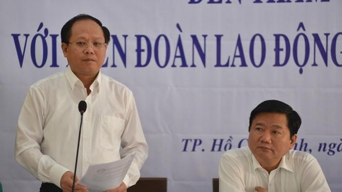 Bí thư Đinh La Thăng và Phó bí thư thường trực Thành ủy TP.HCM Tất Thành Cang