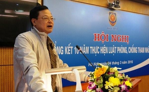 Cục trưởng Cục Phòng chống tham nhũng, Thanh tra Chính phủ Phạm Trọng Đạt