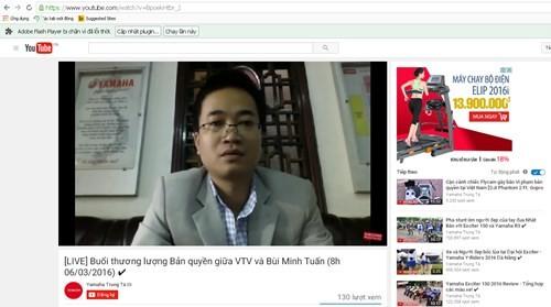 Hủy buổi làm việc trực tiếp về vụ VTV vi phạm bản quyền