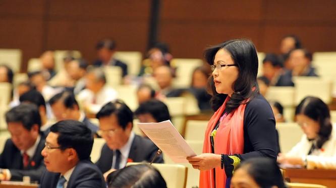 Đại biểu QH tỉnh Quảng Ninh Ngô Thị Minh. Ảnh: Hoàng Long
