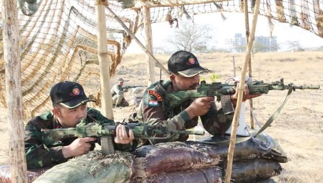 Hình ảnh quân đội Việt Nam tham gia diễn tập thực binh quốc tế FORCE 18