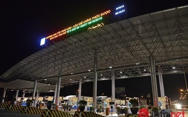 Trạm thu phí Pháp Vân - Cầu Giẽ, Hà Nội.