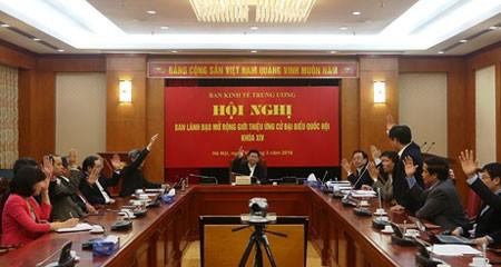 Giới thiệu ông Vương Đình Huệ ứng cử đại biểu Quốc hội