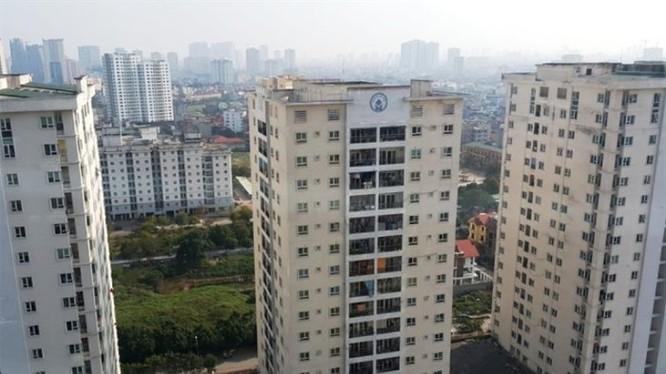 Một dự án chung cư mới mọc lên ở quận ven đô Hà Nội. Ảnh: Hồng Phúc