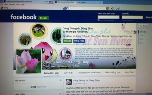Facebook Cổng Thông tin Đồng Tháp.