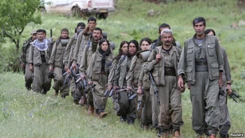 Các chiến binh thuộc lực lượng đảng Công nhân người Kurd. Ảnh: Reuters