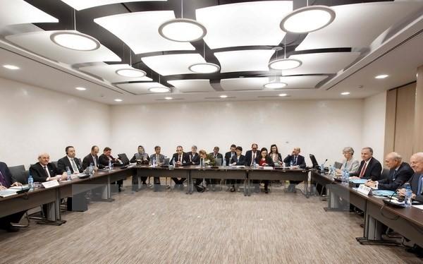 Toàn cảnh cuộc đàm phán. (Nguồn: AFP/TTXVN)