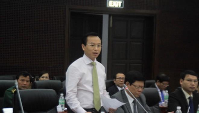 Bí thư Thành ủy Đà Nẵng Nguyễn Xuân Anh cho biết sẽ phấn đấu năm 2020 thu đạt 20.000 tỉ đồng . Ảnh: LÊ PHI
