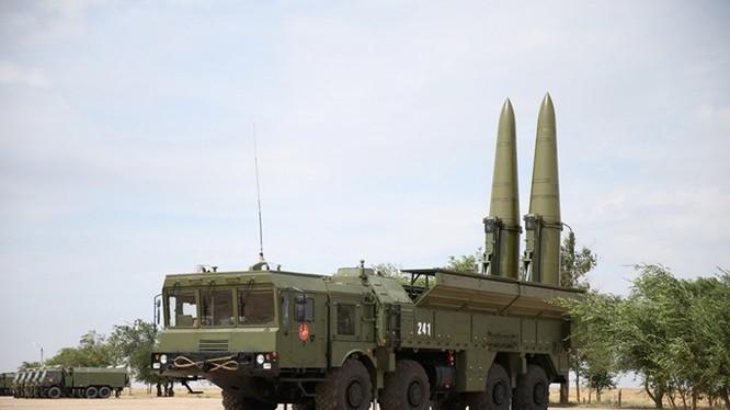 Dàn phóng tên lửa Iskander-M trong một cuộc diễn tập - Ảnh: Bộ Quốc phòng Nga