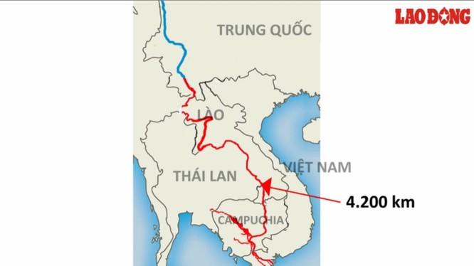 Trung Quốc có xả nước thì lượng nước này cũng phải vượt qua quãng đường lên tới 4.200 km mới có thể về tới Việt Nam