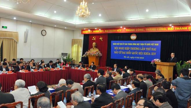 Đoàn Chủ tịch Uỷ ban Trung ương Mặt trận Tổ quốc Việt Nam tổ chức hội nghị hiệp thương để thoả thuận lập danh sách sơ bộ những người ứng cử đại biểu Quốc hội khoá 14.