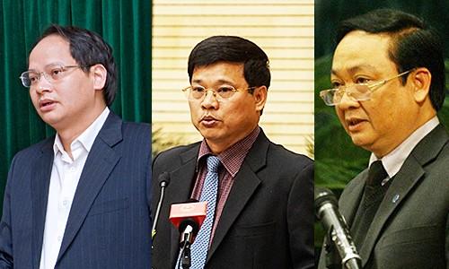 Các ông Nguyễn Doãn Toản, Ngô Văn Quý, Nguyễn Thế Hùng (từ trái qua).