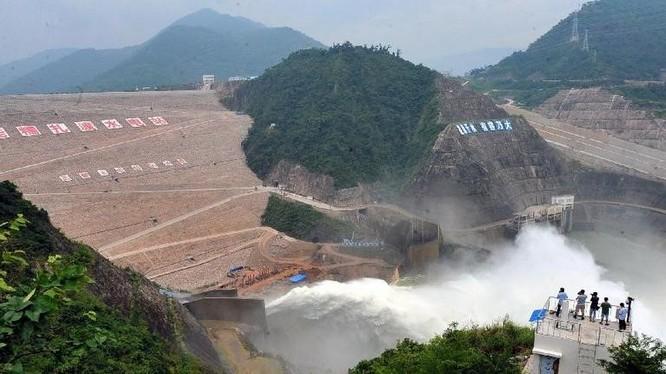 Đập thủy điện Nuozhadu Trung Quốc xây dựng trên sông Mekong. Ảnh: Corbis
