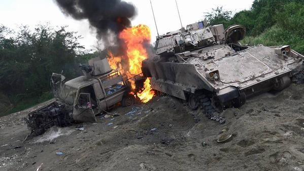 Video phiến quân Huthis cận chiến tiêu diệt thiết giáp Arab Saudi