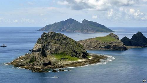 Một góc quần đảo Senkaku. Ảnh AP.