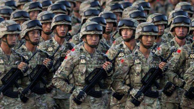 Binh lính Trung Quốc tham gia buổi diễu binh trong buổi lễ kỷ niệm kết thúc Chiến tranh thế giới thứ hai. Ảnh: Getty Images