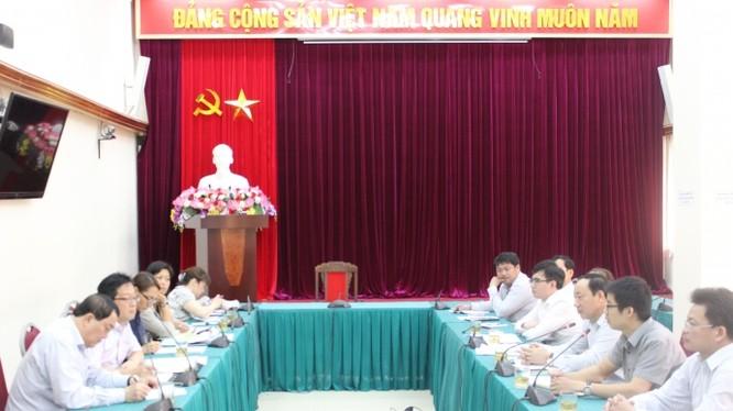 Thứ trưởng Nguyễn Hồng Trường tại buổi làm việc với đoàn công tác của ADB chiều nay