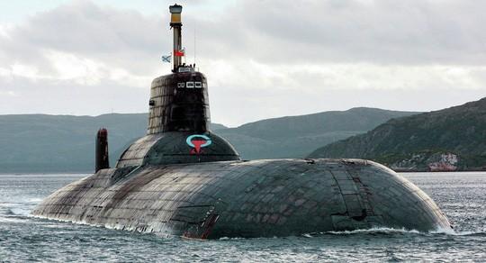 Một tàu ngầm lớp Akula của Nga. Ảnh: AP