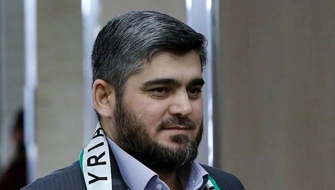 Nhà thương thuyết cấp cao của phe đối lập Syria Mohammed Alloush. (Ảnh: Getty Images.com)