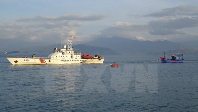 Tàu cảnh sát biển Việt Nam. (Ảnh: Đỗ Trưởng/TTXVN)
