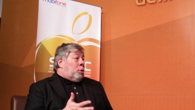 Steve Wozniak trong lần đến TPHCM vào tháng 12-2015. - Ảnh: Đức Thiện