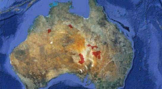 Diện tích mà công ty Trung Quốc vừa mua trên lãnh thổ Úc (phần màu đỏ).