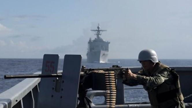 Lính hải quân Philippines trong cuộc tập trận chung với Mỹ trên Biển ĐôngReuters