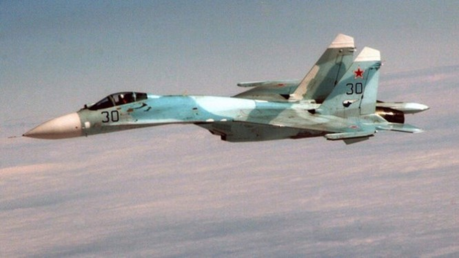 Một chiến đấu cơ Su-27 của Nga tham gia diễn tập trên bầu trời Anchorage, Alaska (Mỹ) tháng 8/2010. (Nguồn: Quân đội Mỹ)