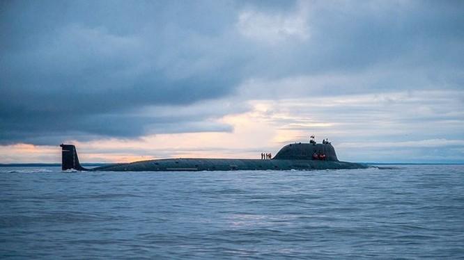 Tàu ngầm Severodvinsk, chiếc đầu tiên thuộc lớp tàu Yasen - Ảnh: Hải quân Nga