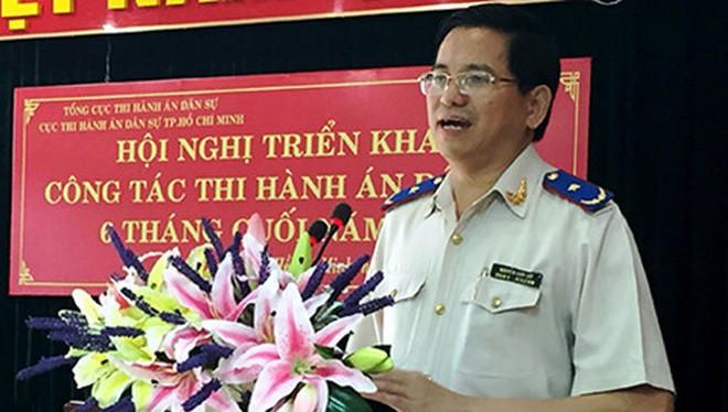 Ông Nguyễn Văn Lực (Phó Tổng cục trưởng Tổng cục THA dân sự) phát biểu tại hội nghị. Ảnh: T.TÙNG