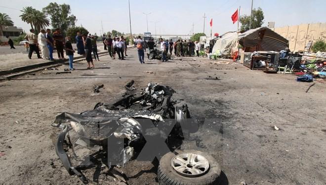 Hiện trường vụ đánh bom ở Saidiya ngày 2/5. (Ảnh: AFP/TTXVN)