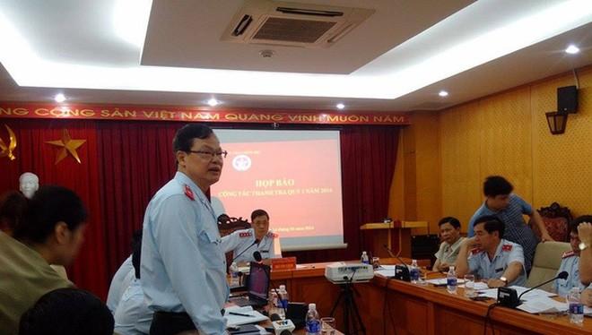 Cục trưởng Cục Chống tham nhũng Phạm Trọng Đạt trong một cuộc họp báo của TTCP