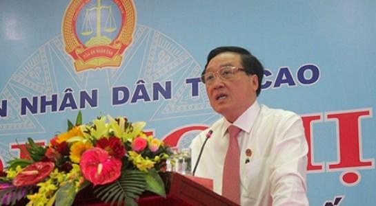 Chánh án TAND Tối cao Nguyễn Hòa Bình.
