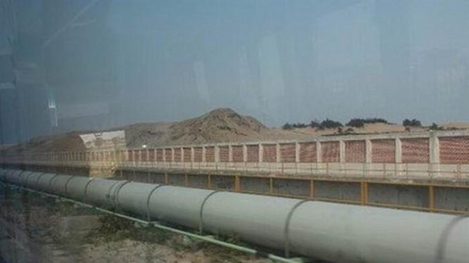 Đường ống dẫn nước thải dự án Formosa. Ảnh: TL