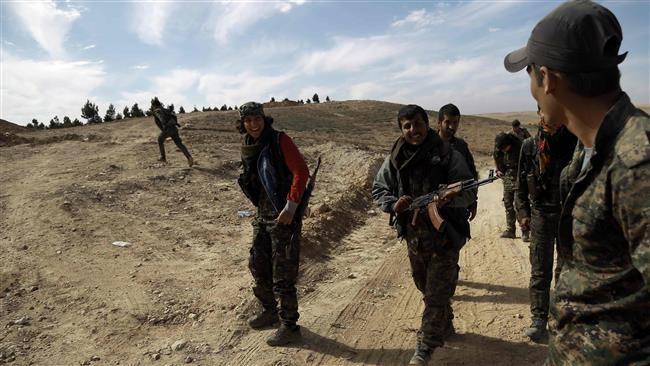 Các binh sĩ của Lực lượng dân chủ Syria (SDF) ở tình Hasakah, đông bắc Syria