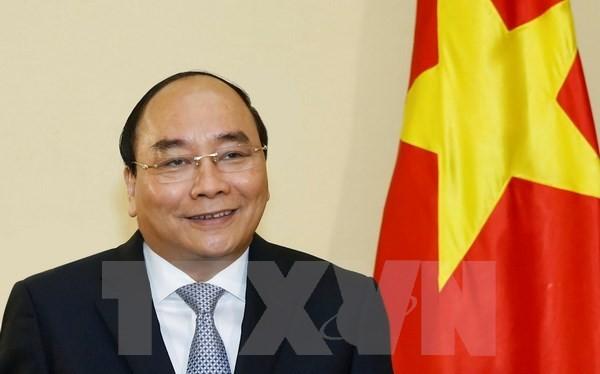 Thủ tướng Chính phủ Nguyễn Xuân Phúc tiếp và trả lời phỏng vấn của một số hãng thông tấn, báo chí lớn của Nhật Bản . (Ảnh: Thống Nhất/TTXVN)