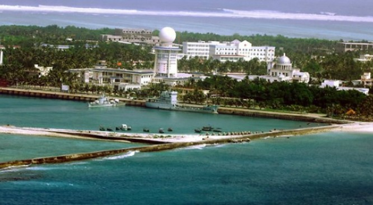 Ảnh: Đảo Phú Lâm tên quần đảo Hoàng Sa của Việt Nam đang bị Trung Quốc chiếm đóng trái phép