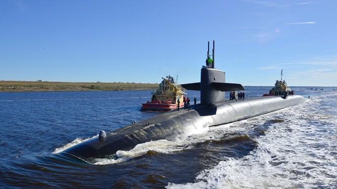 Tàu ngầm hạt nhân phóng tên lửa đạn đạo (SLBM) lớp Ohio, chiếc USS Alaska của Hải quân Mỹ - Ảnh: Bộ Quốc phòng Mỹ