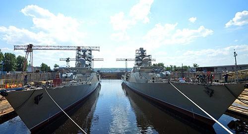 """Nghi lễ trọng thể hạ thủy con tàu """"Gepard-3.9"""" thứ tư."""